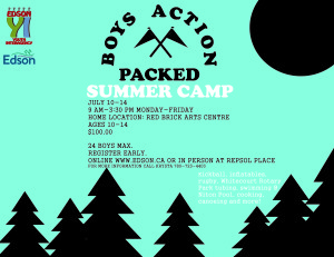 Boys Action Packed Summer Camp @ Red Brick Arts Centre | Edson | Alberta | Canada