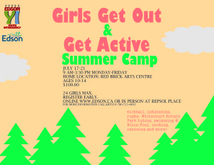 Get Out and Get Active Girls Summer Camp @ Red Brick Arts Centre | Edson | Alberta | Canada
