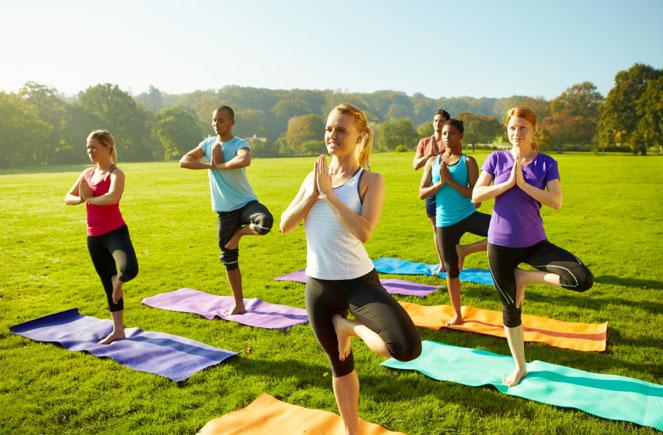 Yoga in the Park - After the Terry Fox Run!  @ Centennial Park