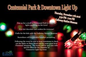 Centennial Park Light Up @ Galloway Station Museum