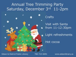 Annual Tree Trimming Party @ Edson & District Public Library | Edson | Alberta | Canada
