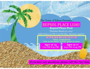 Youth Luau Pool Party - After Hours  @ Repsol Place Pool