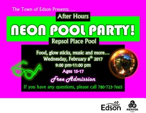 Neon Pool Party - Youth After Hours  @ Repsol Place Pool