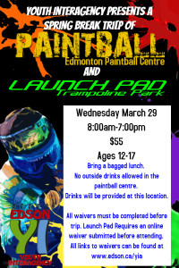 Paintball and Launch Pad Youth Interagency @ Repsol Place