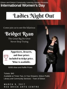 International Women's Day with Bridget Ryan @ Red Brick Arts Centre | Edson | Alberta | Canada