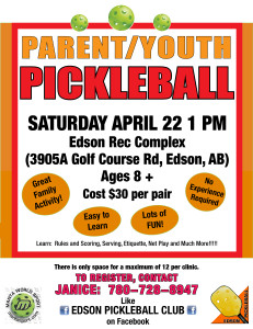 Youth/Adult Pickleball @ Edson Rec Complex