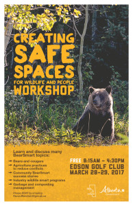 Creating Safe Spaces for Wildlife and People Workshop @ Edson and District Recration Complex | Edson | Alberta | Canada