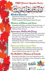 Historic Speaker Series - Canada 150 @ Galloway Station Museum | Edson | Alberta | Canada