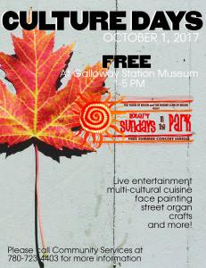 Culture Days - Rotary Sundays in the Park @ RCMP Centennial Park