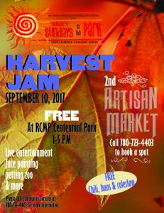 Harvest Jam - Rotary Sundays in the Park  @ RCMP Centennial Park