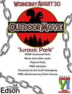 Outdoor Movie - Jurassic Park @ RCMP Centennial Park