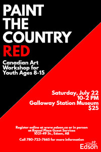 Paint the Country Red - Child/Youth @ Galloway Station Museum | Edson | Alberta | Canada