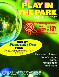 Play in the Park - Rotary Sundays in the Park @ RCMP Centennial Park