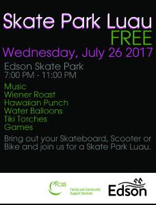 Skate Park Luau - Youth Event @ Skate Park