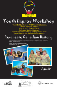Youth Improv Workshop - Canada 150 @ Galloway Station Museum