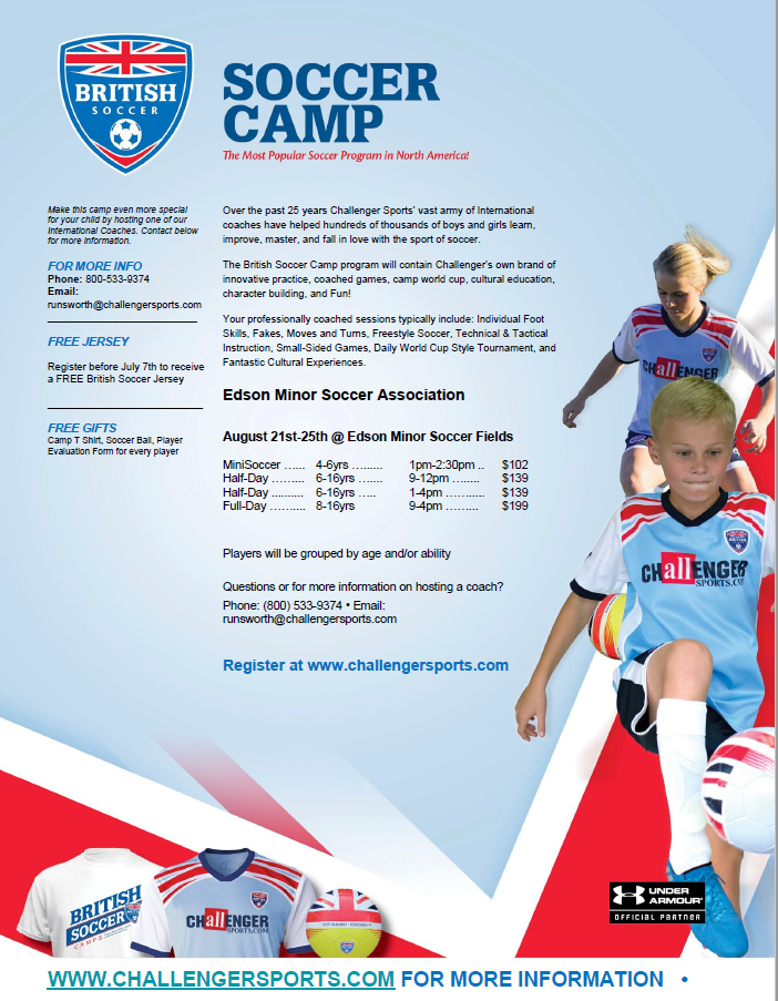 British Soccer Camp Coming to Edson!