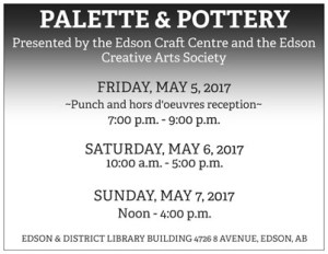 Spring Palette and Pottery Show and Sale @ Edson Public Library | Edson | Alberta | Canada