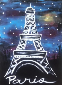 Evening Eiffel Tower - Youth Interagency @ Red Brick Arts Centre | Edson | Alberta | Canada