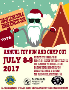 Edson Toy Run and campout  @ Starts at the Lions hall and ends at the peers grounds