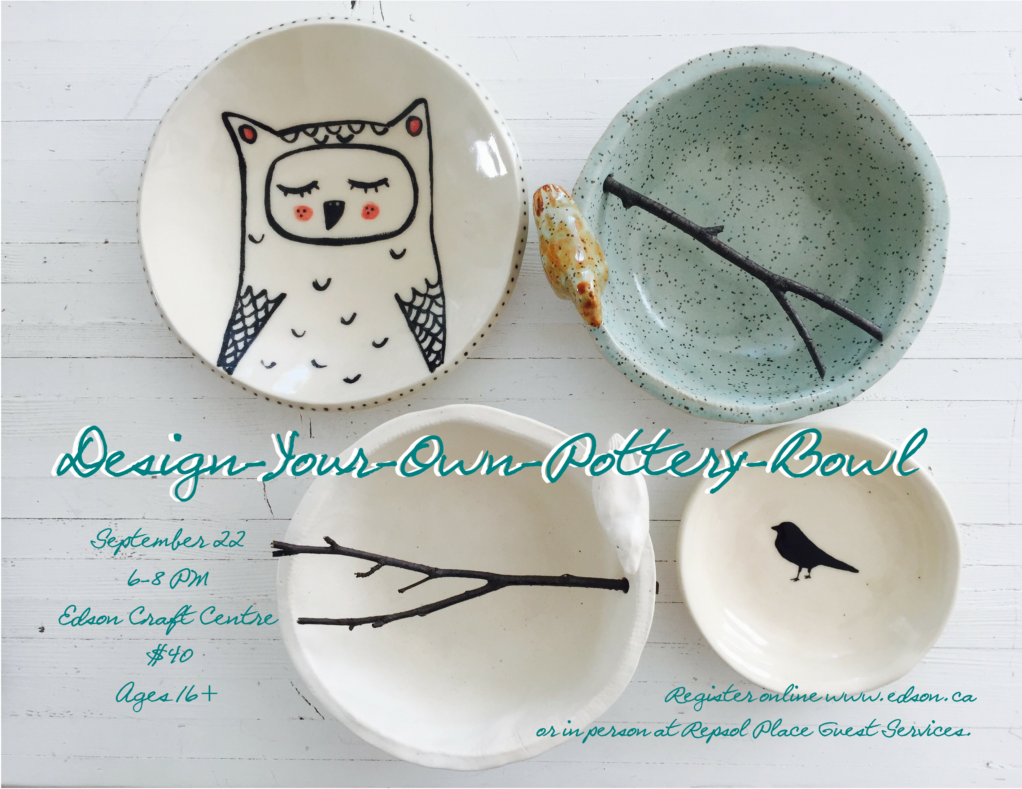 Poster design your own - Design Your Own Pottery Bowl Event Poster