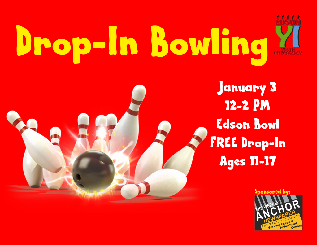 Drop In Bowling Event Poster