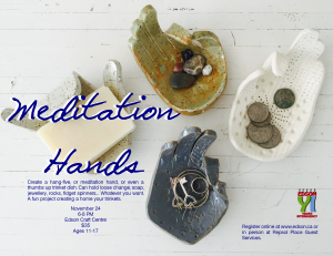 Meditation Hands @ Edson and District Public Library