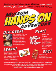 Museum Hands On Adventure @ Galloway Station Museum | Edson | Alberta | Canada