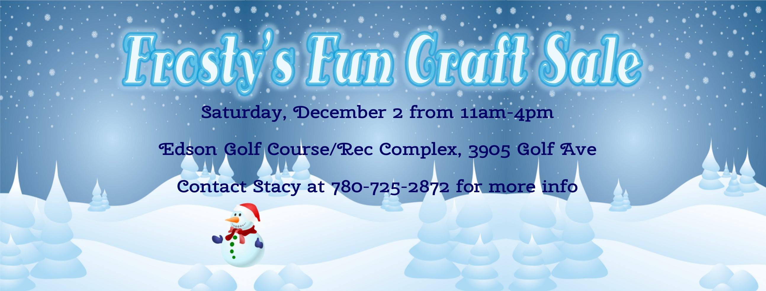 Frosty's Fun Craft Sale @ Edson and District Recration Complex