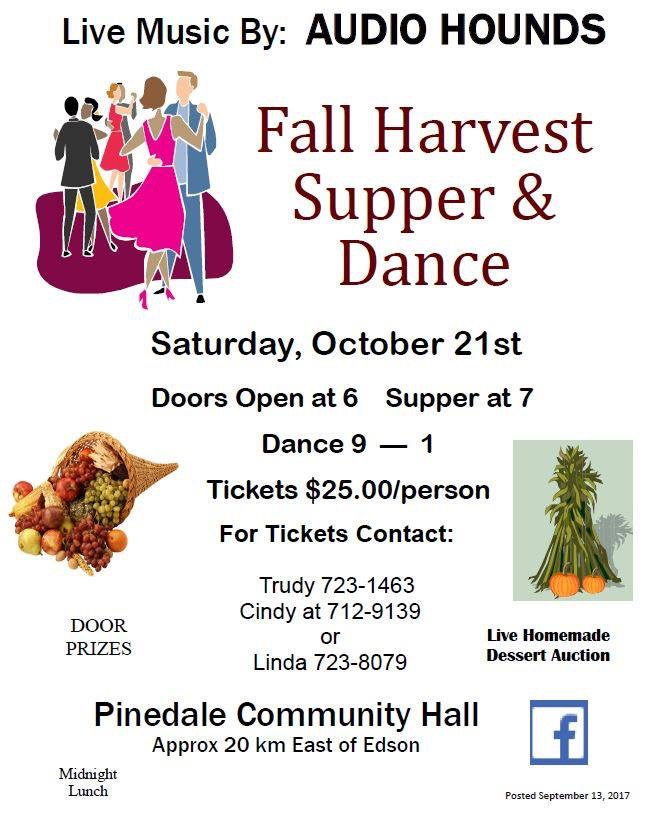 Fall Harvest Supper and Dance @ Pinedale Community Hall | Pinedale | Wyoming | United States