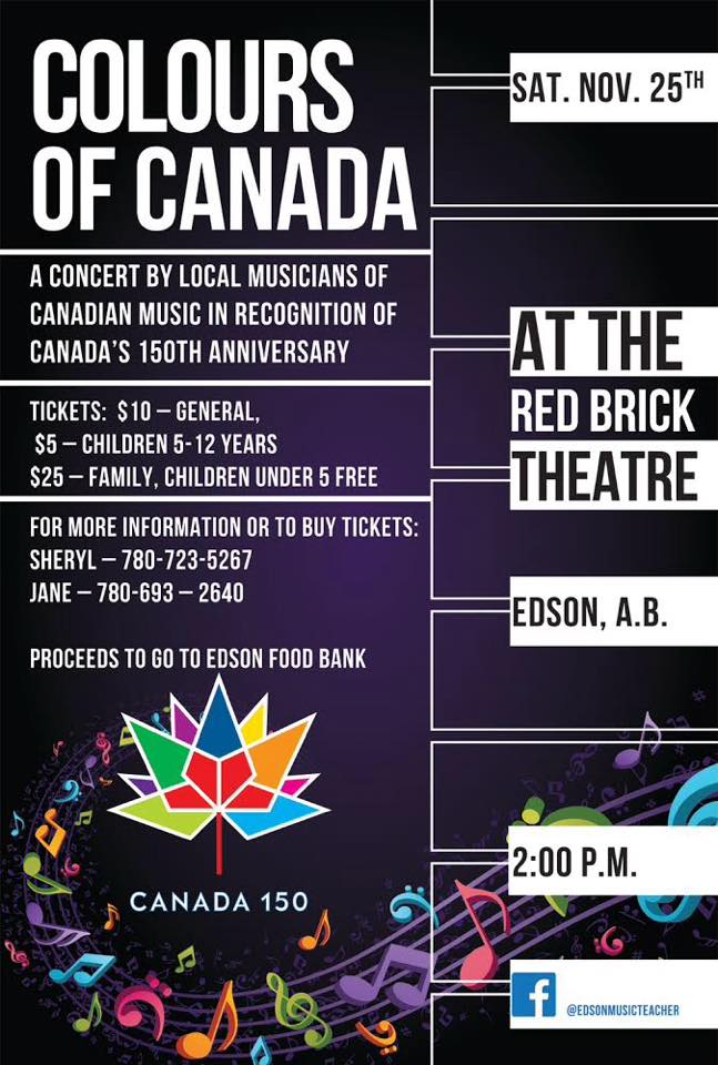 Colours of Canada Concert @ Red Brick Arts Centre