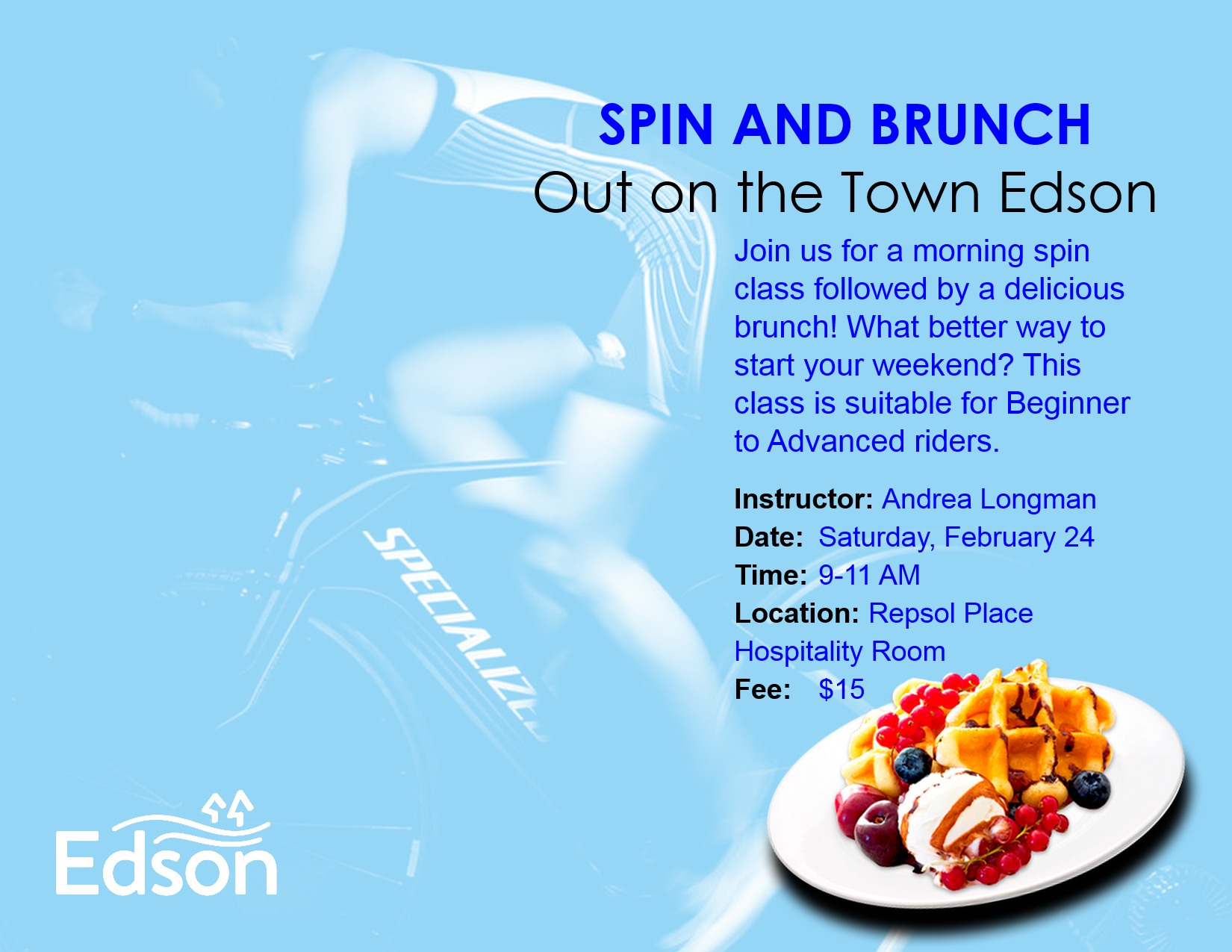 Out on the Town Edson (OTE) Spin and Brunch @ Repsol Place Hospitality Room