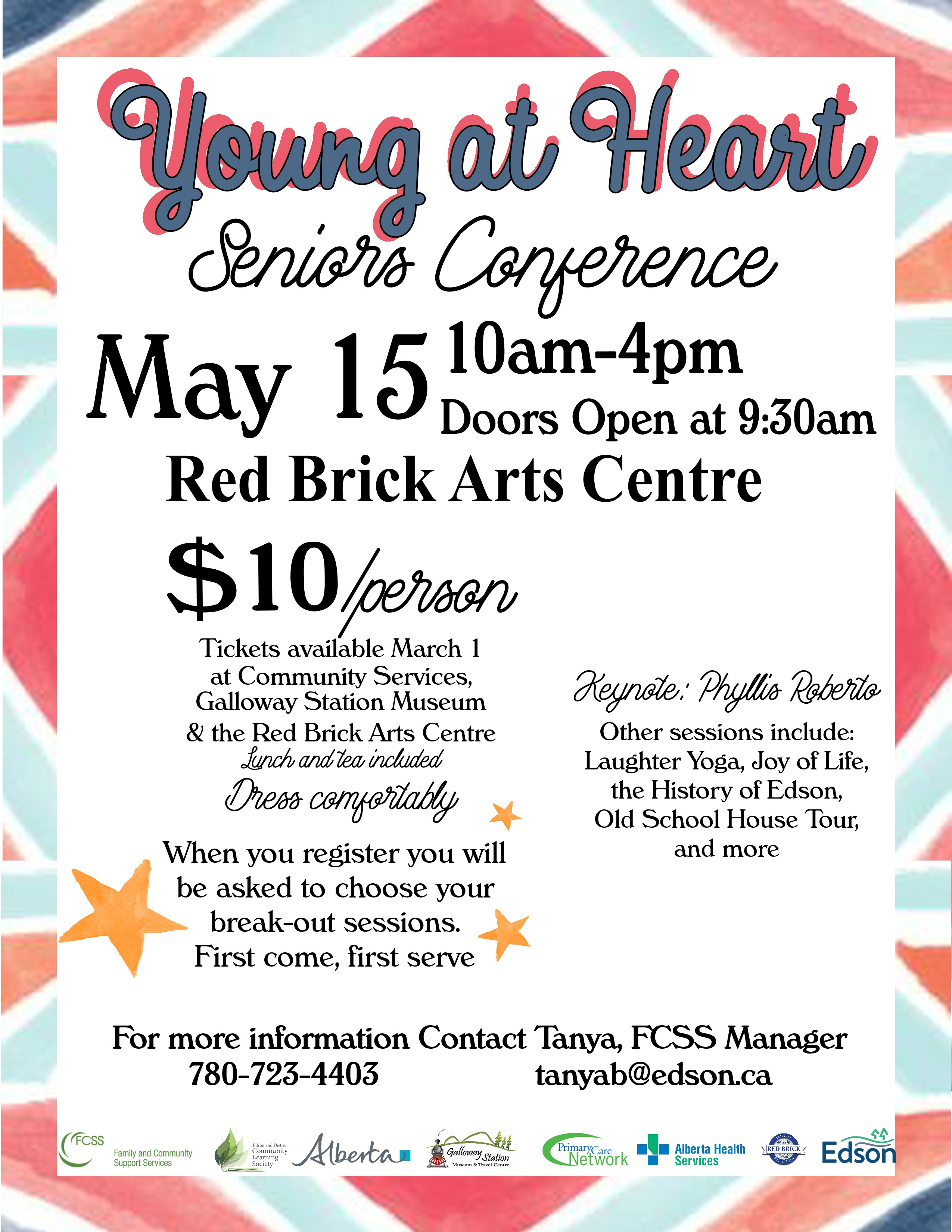 Young at Heart Seniors Conference @ Red Brick Arts Centre | Edson | Alberta | Canada