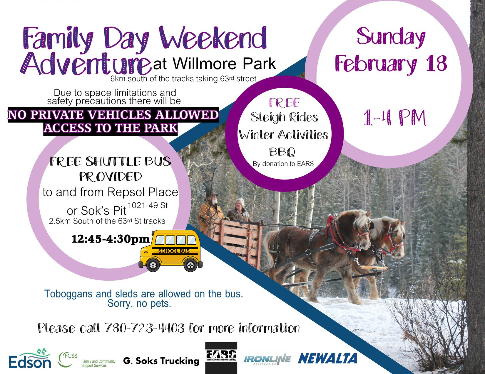 Family Day Weekend Adventure @ Willmore Park