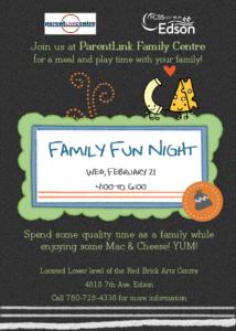 Family Fun Night @ FCSS/ParentLink Centre | Edson | Alberta | Canada