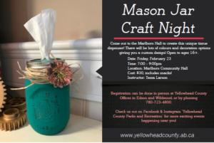 Mason Jar Craft Night! @ Marlboro Community Hall