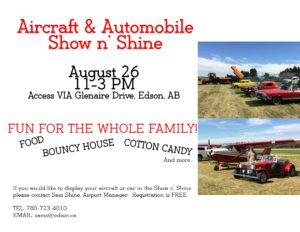 Aircraft and Automobile Show n' Shine at the Edson Airport @ Edson Airport