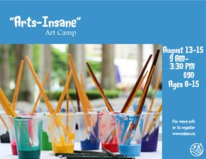 """Arts-Insane"" Art Camp @ Red Brick Arts Centre"