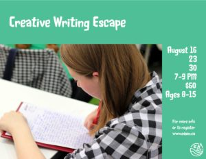 Creative Writing Escape @ Repsol Place Hospitality Room