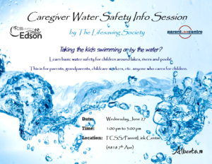 Caregiver Water Safety Info Session @ FCSS/ParentLink Centre | Edson | Alberta | Canada