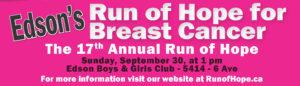 17th Annual Run of Hope @ Boys and Girls Club | Edson | Alberta | Canada