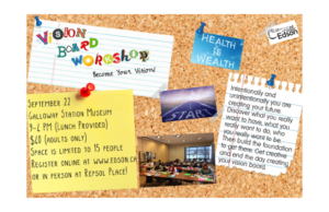 Vision Board Workshop - Become Your Vision @ Galloway Station Museum & Travel Centre