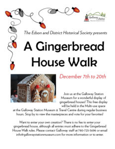 Gingerbread House Walk @ Galloway Station Museum & Travel Centre
