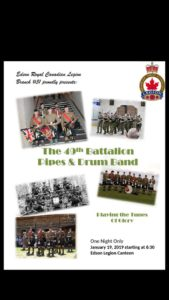 The 49th Battalion Pipes and Drums Band @ Edson Legion