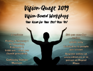 Vision Quest 2019 Vision Board Workshop @ Galloway Station Museum