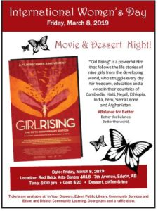 International Women's Day - Movie and Dessert Night @ Red Bricks Arts Centre