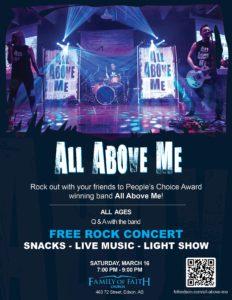 """""""All Above Me"""" Concert @ Family of Faith Church"""
