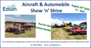Aircraft and Automobile Show and Shine @ Edson Airport