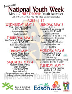National Youth Week @ Boys and Girls Club of Edson and District