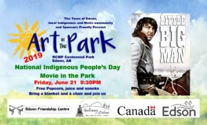 Art in the Park National Indigenous People's Day Movie in the Park @ Centennial Park