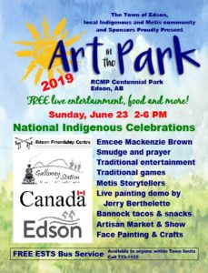 Art in the Park National Indigenous People's Day Celebration @ Centennial Park